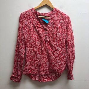 Eddie Bauer Red Floral Shirt Small